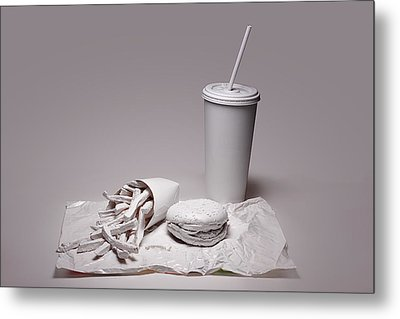 Fast Food Drive Through Metal Print by Tom Mc Nemar