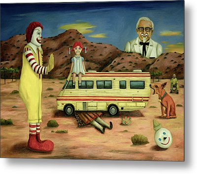 Fast Food Nightmare 5 The Mirage Metal Print by Leah Saulnier The Painting Maniac