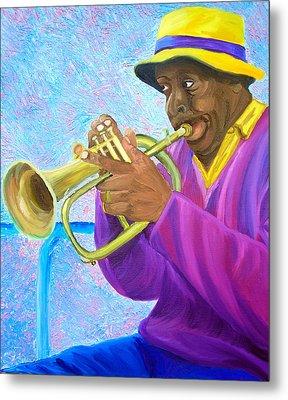 Fat Albert Plays The Trumpet Metal Print by Michael Lee