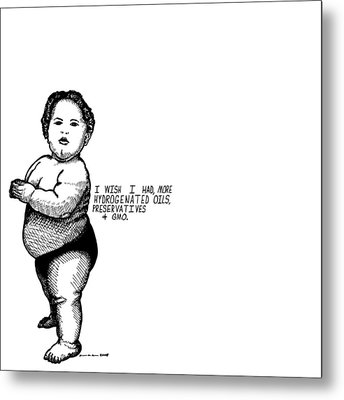 Fat Baby Metal Print by Karl Addison