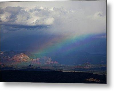 Metal Print featuring the photograph Fat Rainbow, Sedona Az by Ron Chilston