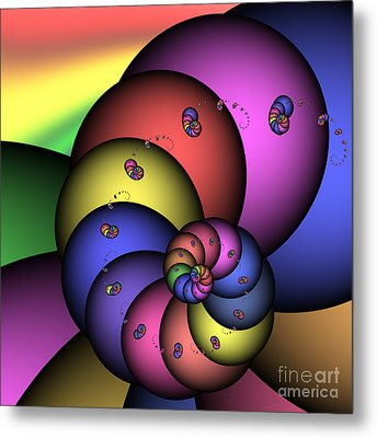 Fat Worm Family 172 Metal Print by Rolf Bertram