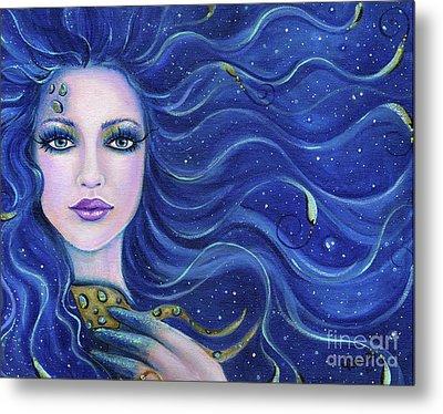 Fatal Beauty Mermaid Art Metal Print by Renee Lavoie