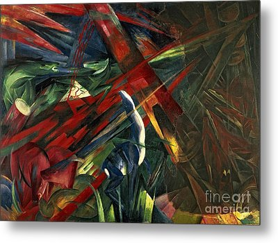 Fate Of The Animals Metal Print by Franz Marc