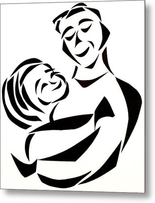 Father And Child Metal Print by Delin Colon