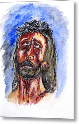 Father Forgive Them Metal Print by Clyde J Kell