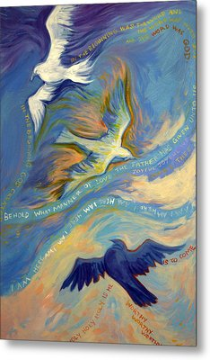 Father Son And Holy Spirit Metal Print by Jill Iversen