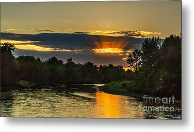 Father's Day Sunset Metal Print by Robert Bales