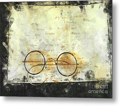 Metal Print featuring the photograph Father's Glasses by Claire Bull