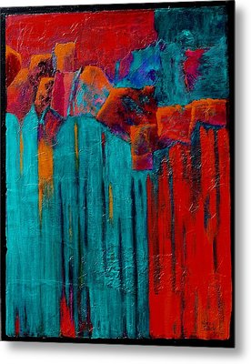 Waterfall Metal Print by Nancy Jolley