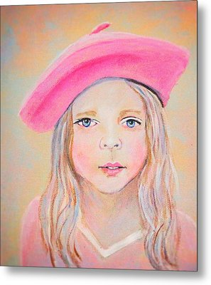 Fayanna Little French Angel Of Trust Metal Print by The Art With A Heart By Charlotte Phillips