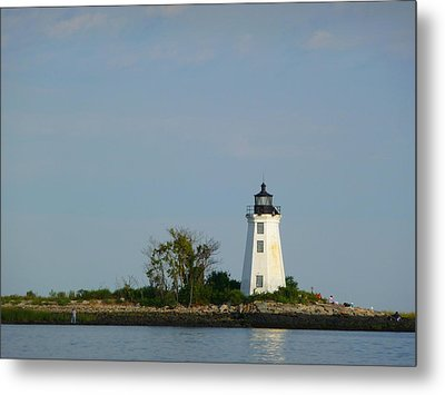 Fayerweather Lighthouse Metal Print by Margie Avellino