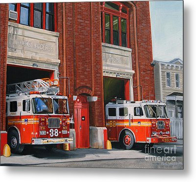 Fdny Engine 88 And Ladder 38 Metal Print