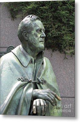 Fdr Statue At His Memorial In Washington Dc Metal Print