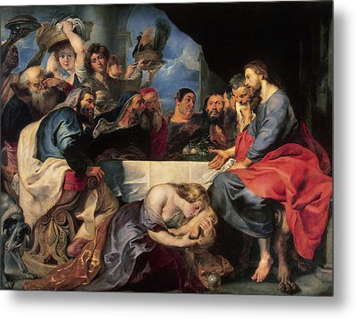 Feast In The House Of Simon The Pharisee Metal Print