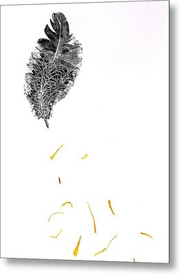 Feather Metal Print by Bella Larsson