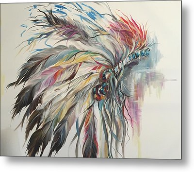 Feather Hawk Metal Print