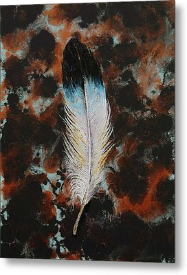Feather Metal Print by Michael Creese