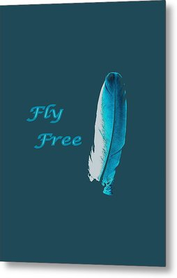 Feather Of Free Flight Metal Print