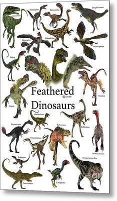 Feathered Dinosaurs Metal Print by Corey Ford