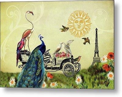 Feathered Friends In Paris, France Metal Print