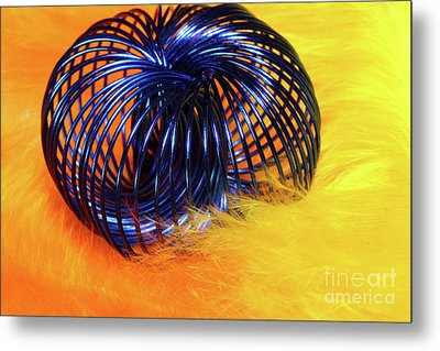 Feathers And Jewelry  Metal Print