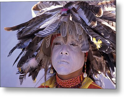 Feathers Metal Print by Christian Heeb