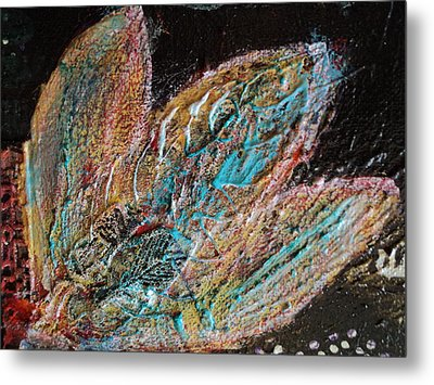 Feathery Leaves In Fantasy Blues Metal Print by Anne-Elizabeth Whiteway