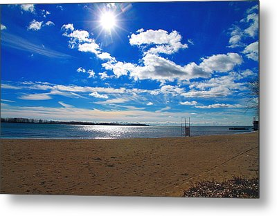 Metal Print featuring the photograph February Blue by Valentino Visentini