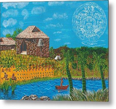 February  Mayan Farm Metal Print