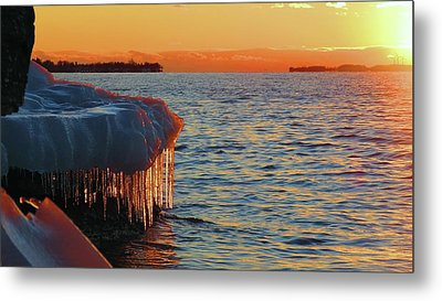 Feburary Sunset Cape Vincent Metal Print