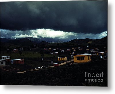 Federal Housing Yauco Puerto Rico Metal Print by MotionAge Designs