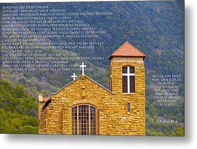 Feeding Faith Metal Print