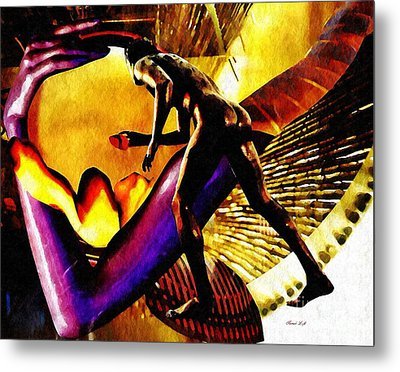 Feeding The Fire Within Metal Print by Sarah Loft
