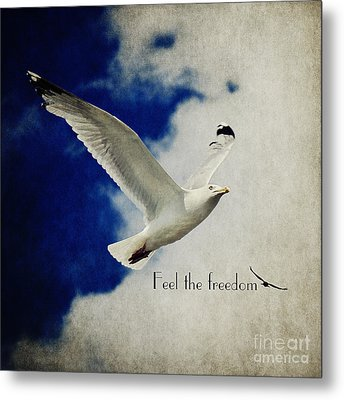 Feel The Freedom Metal Print by Angela Doelling AD DESIGN Photo and PhotoArt