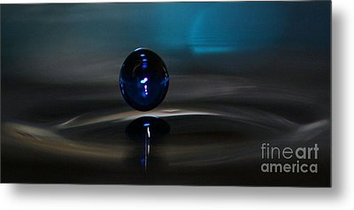 Feeling Blue Metal Print by Kym Clarke