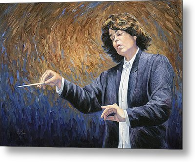 Feeling The Music Metal Print by Lucie Bilodeau