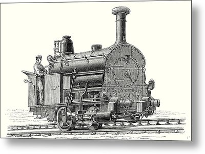 Fell's Locomotive For The Rail Central Railway Metal Print