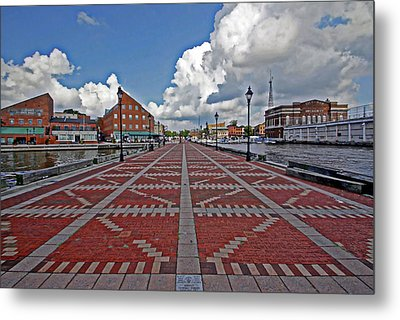 Metal Print featuring the photograph Fells Point Pier by Suzanne Stout