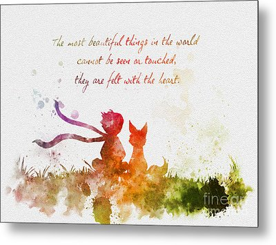 Felt With The Heart Metal Print by Rebecca Jenkins