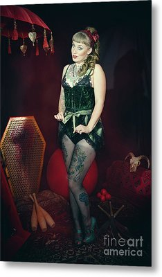 Female Circus Performer Metal Print