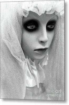 Female Ghost Halloween Print -  Dearly Departed Ghostly Female Soul - My Beloved Metal Print