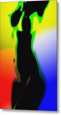 Female In Color One Metal Print