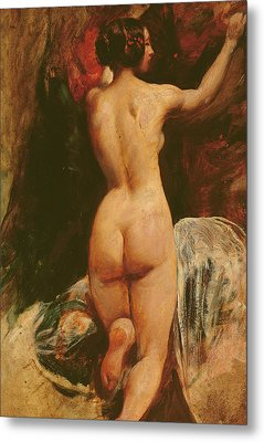 Female Nude Seen From The Back Metal Print