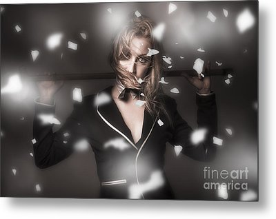 Female Showgirl Performing On A Theater Stage Metal Print by Jorgo Photography - Wall Art Gallery