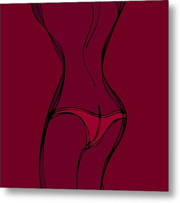 Female Silhouette Metal Print by Frank Tschakert