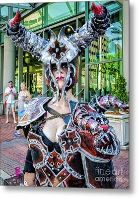 Female Warrior Bull - Nola Metal Print