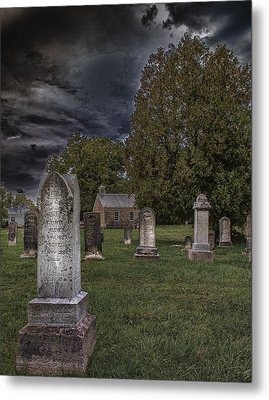 Femme Osage Cemetery Metal Print by Bill Tiepelman
