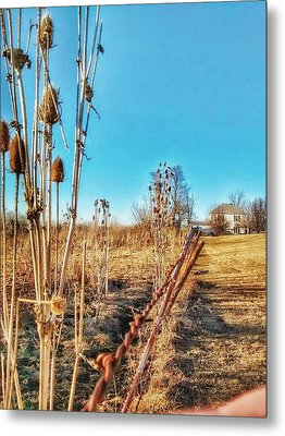 Fence Line Metal Print by Dustin Soph