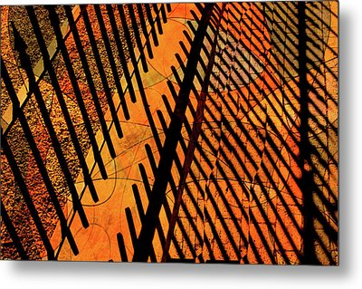 Fenced Framework Metal Print by Don Gradner
